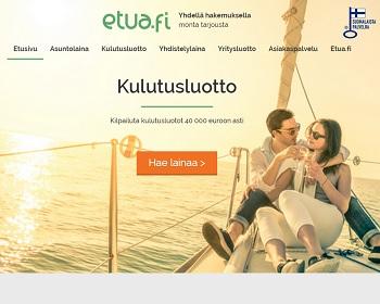 Etua.fi - Kulutusluotto on edullisempi kuin pikavippi!