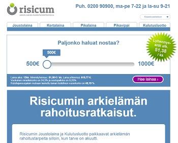 Risicum - Uusi ja suosittu pikavippi!