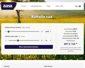 Aasa - Nopeaa pikalainaa 2000 - 5000 euroa!