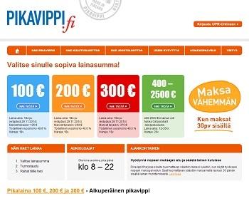 Pikavippi 100 - 300 euroa!