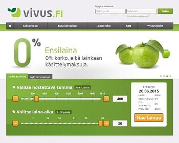 Vivus.fi palvelun ensimmäinen pikavippi on ilmainen!