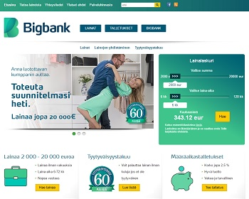 Bigbank - Nopea ja kilpailukykyinen pankkilaina!