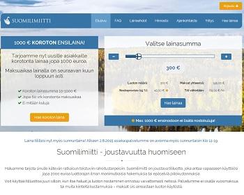 Suomilimiitti.fi - Ensimmäinen 1000 euron pikavippi on ilmainen!