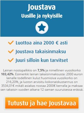 Ferratum Joustava - Nosta pikavippi tilillesi 24h vuorokaudessa!
