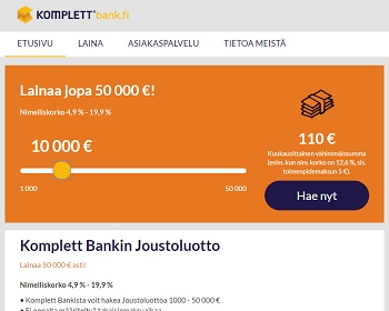 Komplett Bank laina on edullisempi kuin pikavippi!