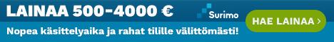 Surimo lainaa heti 500 - 4000 euroa.