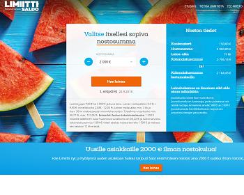 Limiitti.fi luottoa hyvillä ehdoilla!