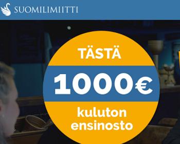 Suomilimiitti luottoa jopa ilman kuluja!