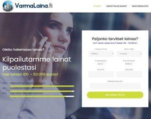 VarmaLaina.fi lainaa 100 - 50.000 euroa.