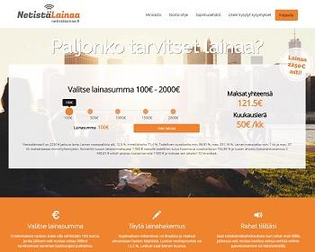 NetistäLainaa.fi muutamassa minuutissa maksuttomalla lainahakemuksella.