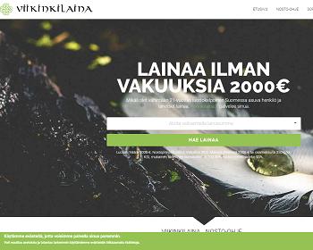 Viikinkilaina.fi lainaa ilman vakuuksia.