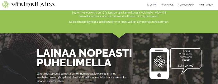 Viikinkilaina.fi lainaa kätevästi kännykällä.