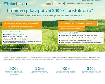 BlueFinance joustoluotto